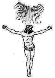 Jesús. 3000 años antes de Cristo Crucifixion-en-el-espacio-representacion-de-la-mitologia-hindu