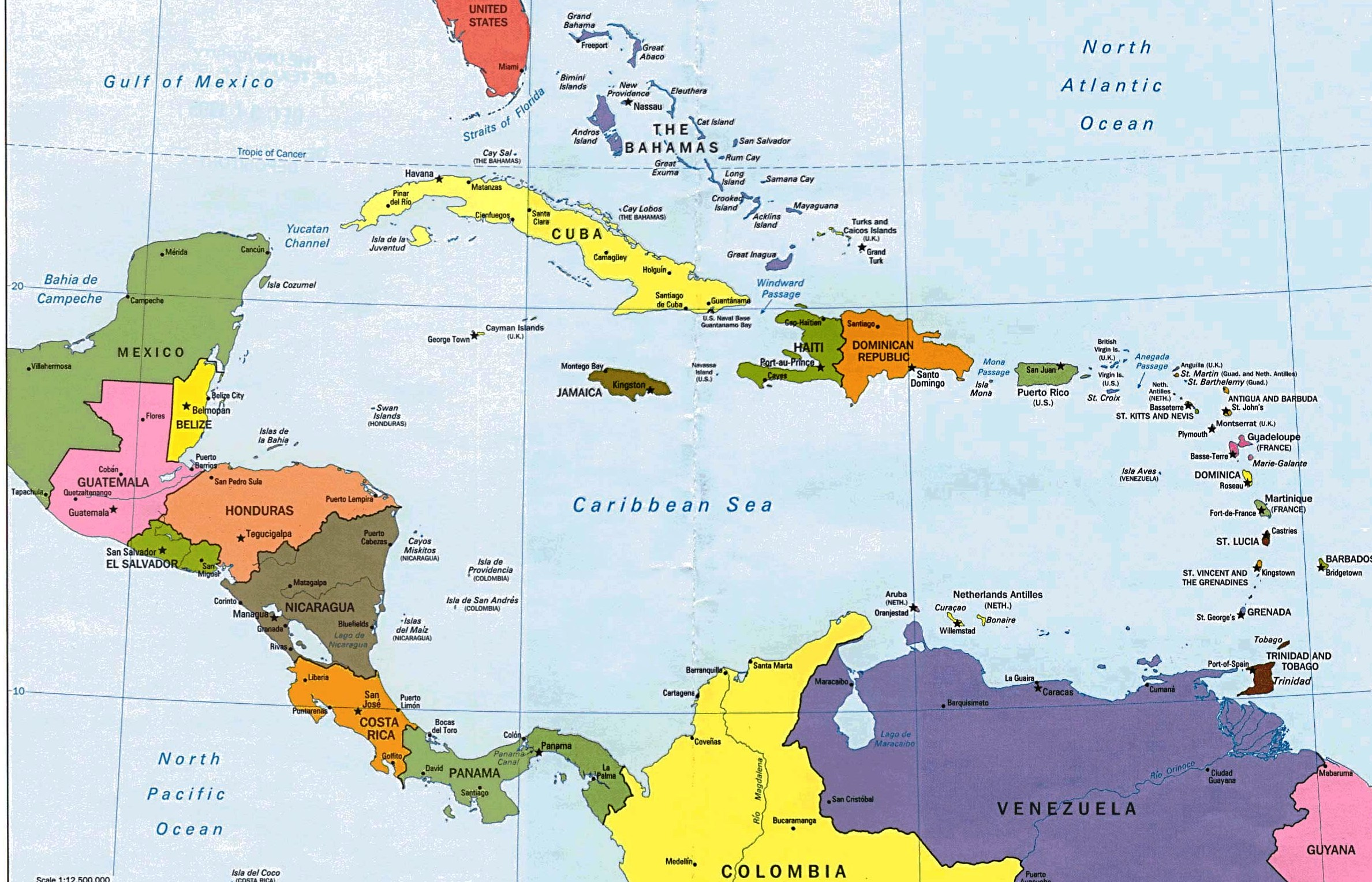 Isla El Caribe Mapa